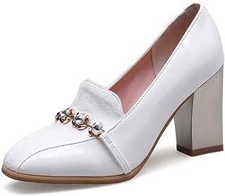 BalaMasa Womens APL12333 Pu Block Heels