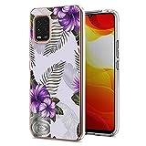 Coque de protection élégante et fine pour Xiaomi Mi 10 Lite 5G Motif floral Violet