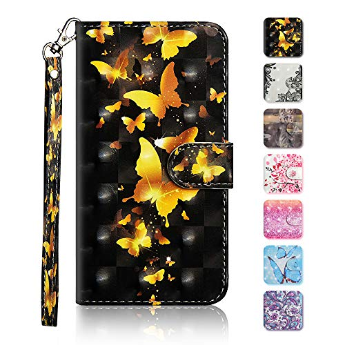 Price comparison product image Galaxy S9 Plus Case,  The Grafu Wallet Case PU Leather 3D Painted Folio Flip Cover,  Card Holder Stand Case with Wrist Strap for Samsung Galaxy S9 Plus