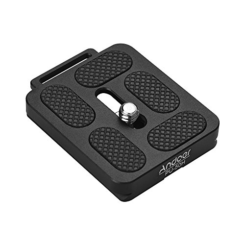 Andoer PU-50H Quick Release QR Plate with Attachment Loop for Arca Swiss Tripod Ball Head