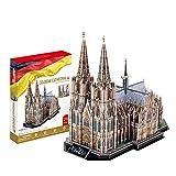 JW-MZPT 3D Dreidimensionale Puzzle-DIY Modellbau Kölner Dom