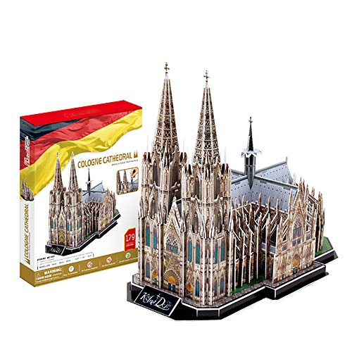 JW-MZPT 3D Dreidimensionale Puzzle-DIY Modellbau Kölner Dom Puzzle-Kampf Inserted Spielbauplattenelemente Paper Models