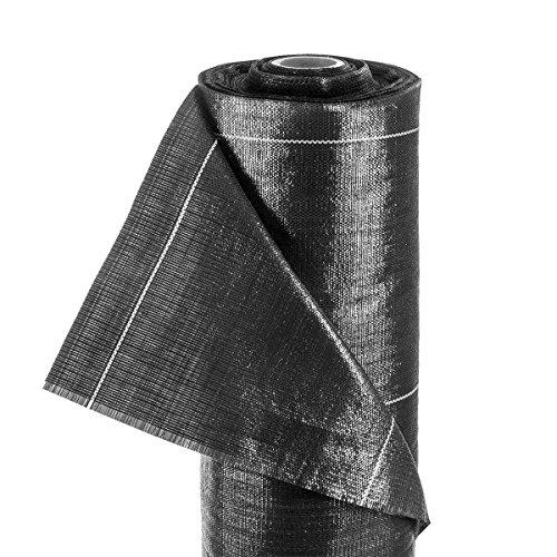 Tela de barrera antimalezas 100 g/m² 2,7 m de tela sintética con tiras tejidas de calidad profesional Geotextil lona por metro