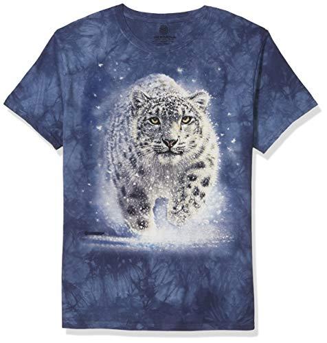 The Mountain Unisex Snow Ghost Adult Tee T-Shirt, blau, Medium
