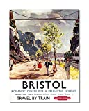 Funky NE Ltd J0485 Wand-Poster Bristol – Travel by Train
