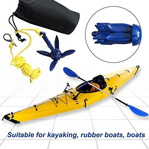 SASKATE Bootsport Anker, Bootsankersystem, Schiffsanker mit Tasche für Kajaks, Kanus, Paddle-Boards