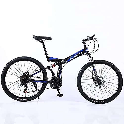 ASPZQ Bicicleta de montaña Plegable, Frenos de Doble Disco,