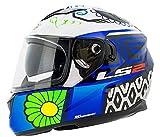 LS2 Helmets - FF328 – Stream Evo – Couture Matt Black Blue Dual