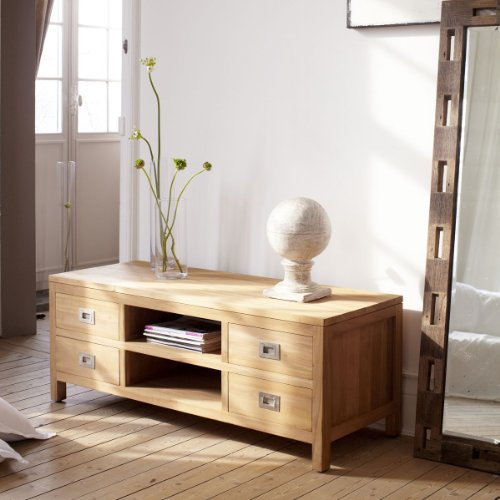 TV-Bank TV-Rack Lowboard massivem Teak Sideboard Unterschrank Massiv