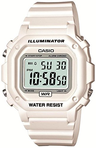 CASIO Men's Wristwatch F-108WHC-7BJF Standard Digital Display White x white