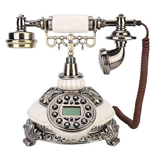 minifinker Teléfono Antiguo, teléfonos fijos Antiguos Aspecto Exquisito con Pantalla LCD de botón pulsador para decoración del hogar para decoración de hoteles de Estrellas