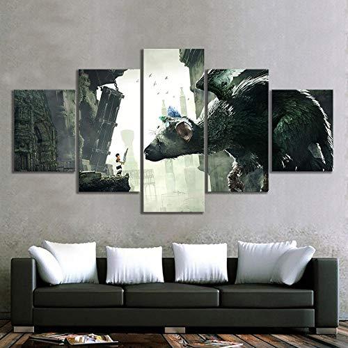 DXZJN Módulo de arte de pared imagen lienzo impresión decoración del hogar 5 panel niño tema de dibujos animados videojuego cartel pintura sala de estar 5 Paneles De Pintura Sobre Sin marco 150*100CM
