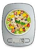 FiveFine Küchenwaage Digitalwaage Electronische Waage für Lebensmittel, Haushaltswaage 5kg mit LCD-Display aus Edelstahl, Tara-Funktion und Hohe Präzision auf bis zu 1g, Batterien Inklusive