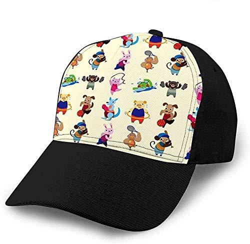 ZYZYY Baseballmütze Animal Sport Player Inked Vintage Trenddruck Cowboyhut Mode Baseballmütze Für Männer Und Frauen