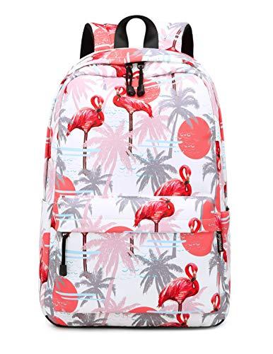Joymoze Kinder Rucksack für Jungen und Mädchen Leichter Schulrucksack für Jugendliche Roter Flamingo