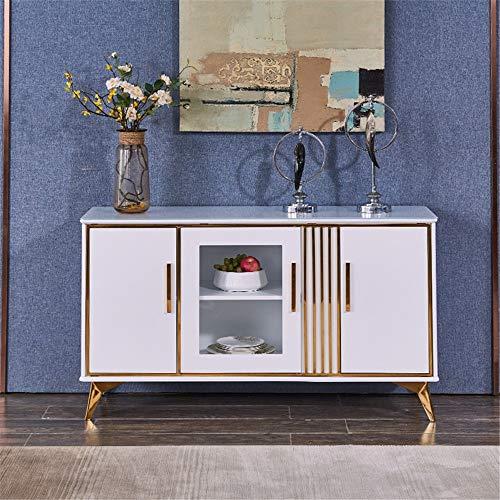Aparador De Muebles Moderno estilo buffet servidor cocina almacenamiento aparador restaurante restaurante restaurante Mucho Espacio De Almacenamiento ( Color : Blanco , Size : 130x40x75cm )