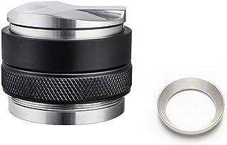 Fransande Double Tamper de café, entonnoir de café, anneau de poudre pour presse à café espresso Argenté 58 mm