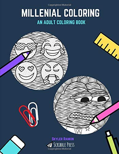 MILLENIAL COLORING: Emojis And Memes - 2 Coloring Books In 1