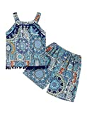 Toddler Baby Girls Clothes Summer Outfits Ethnic Tank Top Shorts Pants Girls Summer Clothes 4-5T