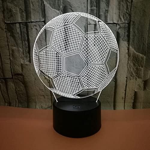 Yyhmkb Led A Pilas Fuentes Lamparas Sobremesa Por Lampara De Techo Fútbol Colorido 3D Visión Creativa Luz Nocturna 3D Lámpara De Mesa Tridimensional Venta Caliente Escritorio Creativo 3D Mesa