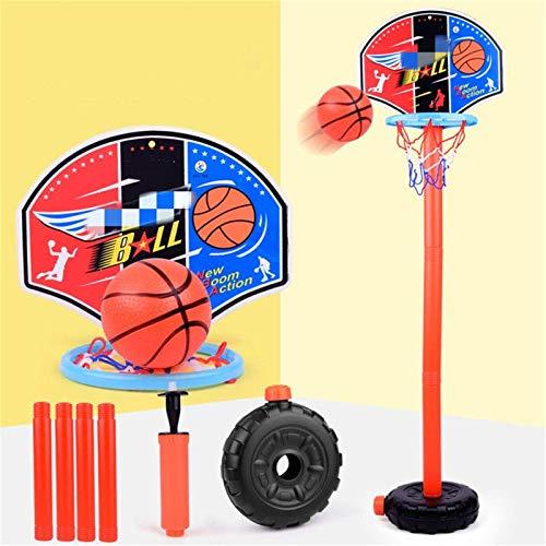 Jtoony Aro de baloncesto ajustable mini baloncesto aro soporte al aire libre juegos de deportes de interior niños juguete regalos baloncesto soporte