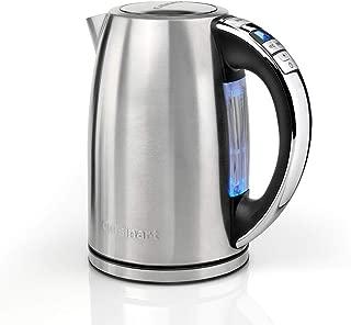 Cuisinart 美膳雅 CPK17BPU 多温水壶,3 瓦,1.7 升,不锈钢