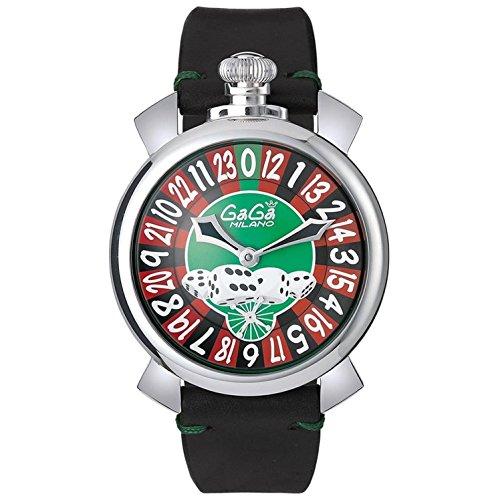 GaGa Milano Men's Las Vegas Roulette 48mm Black Mechanical Watch...