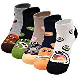 Artfasion Women's Socks Cotton Cartoon Food Cute Ankle Fun Lady Casual Sox