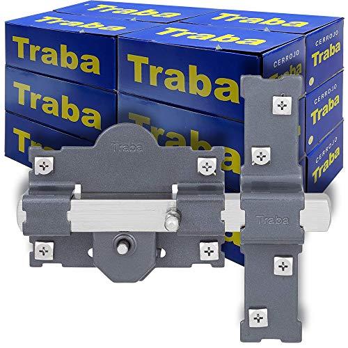 FAC SEGURIDAD - Caja de cerrojos para puertas modelo Traba 101-R de 50mm pintado negro FAC Seguridad (12 unidades)