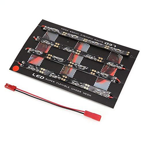Tira de luz Barra de 6 LED programable con tablero de control 2-6s Fuente de alimentación independiente para FPV RC Drone Vuelo nocturno