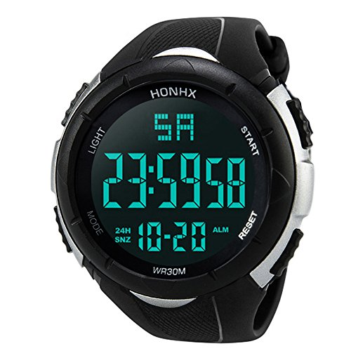 Mode Herren Uhren Analog Digital Military Heer Sport LED wasserdichte Intelligent Armbanduhr