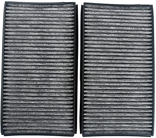 Piezas de repuesto para cortacésped 1 par de pares de pares de cabina de estilo de carbono Pieza de reemplazo # 64316935823 64 31 6 935 823 (CUK 3139) Para la serie E60 E60 E61 E63 5 y 6 (Paqu