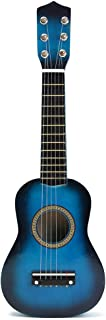 NUOLUX 21 Inch Children's Acoustic Guitar Portable Small Size Wooden Guitar for Children Kids Beginners (Blue)