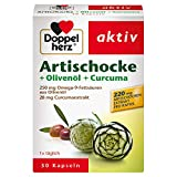 Doppelherz Artischocke + Olivenöl + Curcuma – Pflanzliches Nahrungsergänzungsmittel mit...