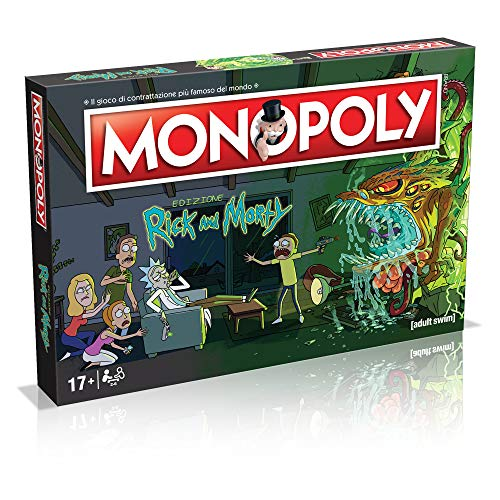 Winning Moves – Rick and Morty Monopoly Italian Edition, 036504