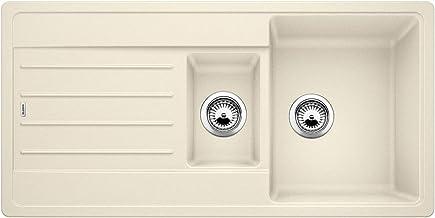 BLANCO LEGRA 6 S - Rechthoekige granieten spoelbak van silgraniet met restbak voor 60 cm brede onderkasten - beige - 52210