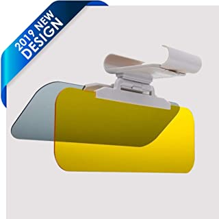 TACVISOR 2 in 1 Day and Night Anti-Glare Car Visor Extender Sun Blocker Anti-Dazzle Windshield Driving Visor Goggles Shield Sunshade Universal Size OTBBA Car Sun Visor with Easy Button