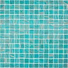 WB87-71739 Miroir de salle de bain en mosa/ïque de cristal transparent Dor/é argent/é noir rouge Structure murale