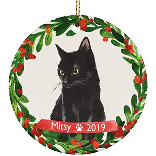 Cat Ornament Pet Gift Cat Christmas Ornament Black Cat Ornament Black Cat Christmas Ornament Cat Lover Gift