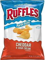 Ruffles Potato Chips, Cheddar & Sour Cream, 12.5 oz Party Size Bag
