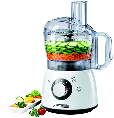 Black + Decker FX400QS FX400-QS universele keukenmachine, plastic, 1,2 liter, wit