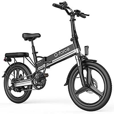 G-Force Electric Bike T13, Electric Bikes for Adults 20''Folding Ebike,350W Motor, Max Speed 20MPH Adults Ebike with Removable Battery(48V 10.4A),Max Range 30Miles.