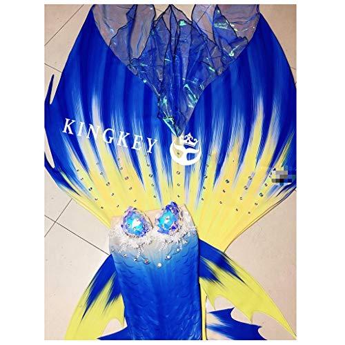 RKRZLB Cola De Sirena For Niñas For Nadar Princesa Bikini Conjunto De Traje De Bano Sirena Tamaño Personalizado