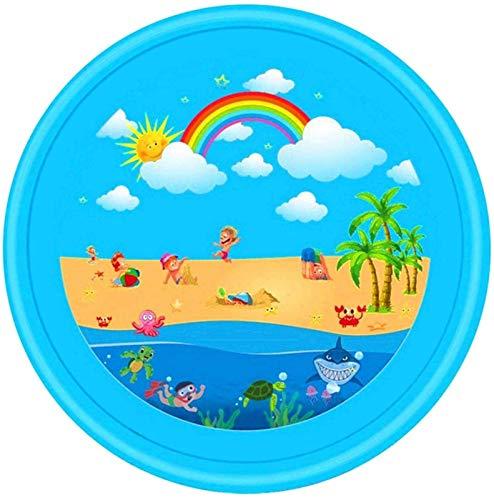 XINGDONG Pista de salpicaduras de 67 pulgadas, aspersor para niños, juguetes inflables para niños, juguetes, almohadilla de salpicaduras de piscina, piscina inflable para niños, para niños, niñas, niñ