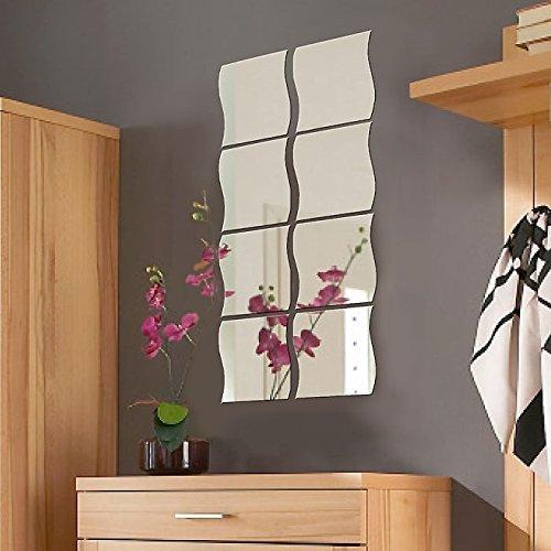 Espejos de pared 20x20cm Conjunto de espejos 8 piezas