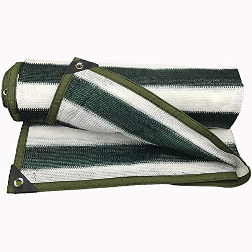 QIAOXI Cortina de la Red de Polietileno Sunblock Sheet Covers Refugio Lona del Aislamiento de Calor Cortavientos Heavy Duty (Color : Dark Green+White, Size : 1.8x7.8m)