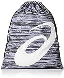 アシックス マルチバッグ フロック柄 巾着 W30cm×H38cm 収納袋 3123A410 グレー