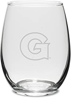Georgetown Hoyas 11.5 oz. Deep Etched Stemless Deep Etched White Wine Glass