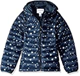 Amazon Essentials Girl's Lightweight Water-Resistant Packable Hooded Puffer Jacket, Navy Star, XX-Large