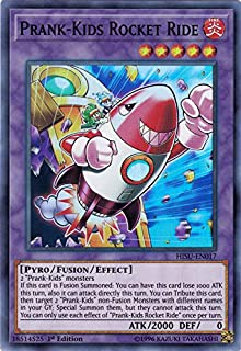 Yu-Gi-Oh! Singles - Prank-Kids Rocket Ride - HISU-EN017 - Super Rare - 1st Edition - Hidden Summoners